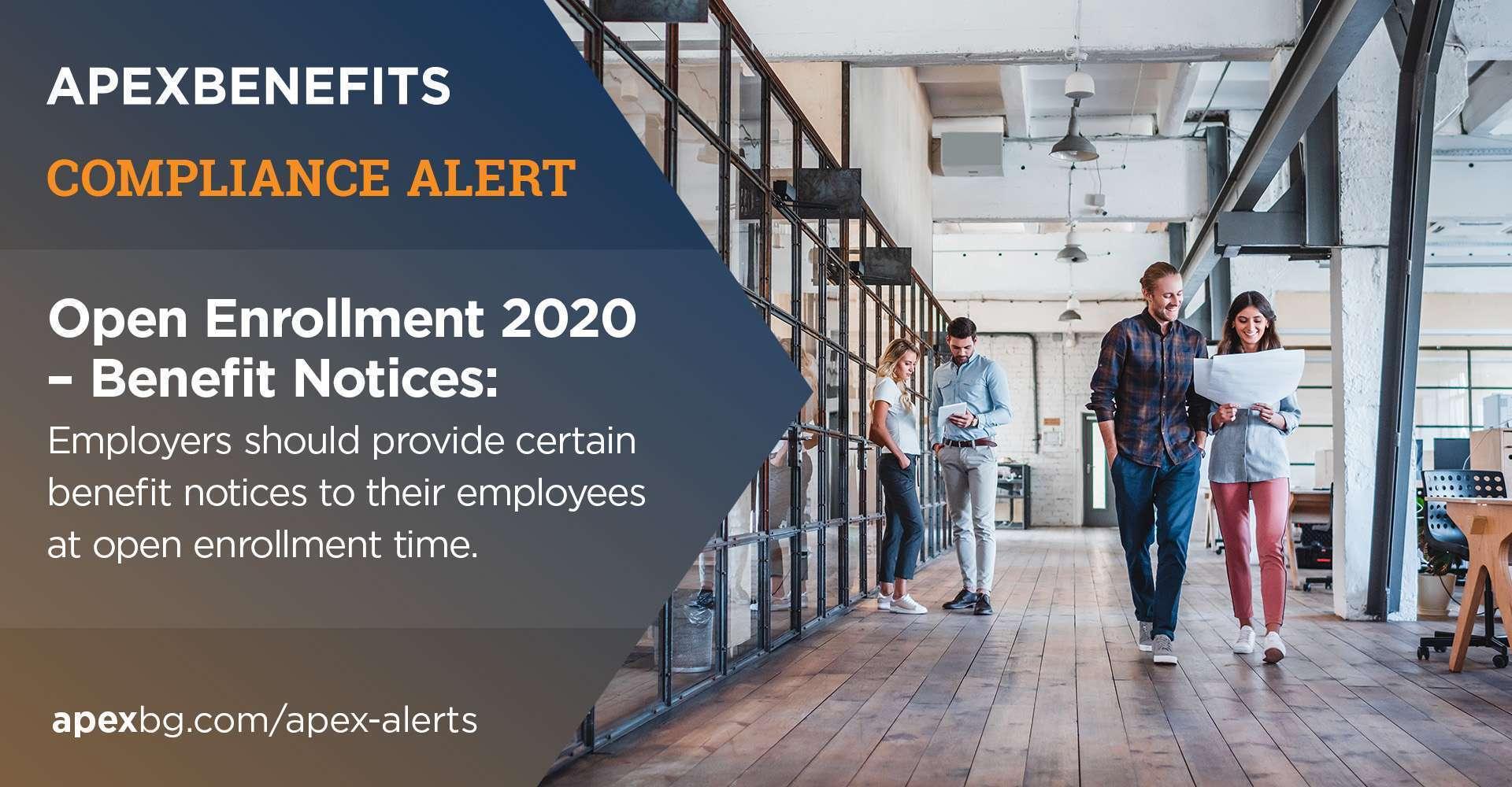 Compliance Alert: Open Enrollment 2020 - Benefit Notices