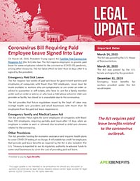COVID-19 Bill Requiring Paid Leave