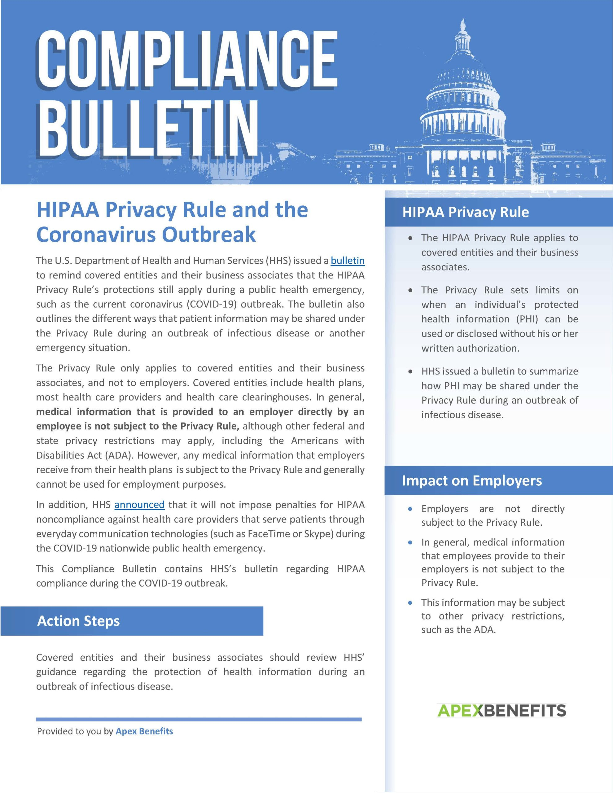 HIPAA Privacy Rules COVID-19