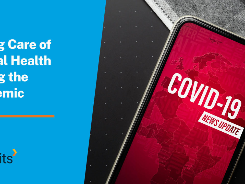 Smart phone with a COVID-19 alert on screen